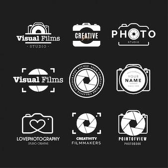 Coleção de logotipo de fotografia