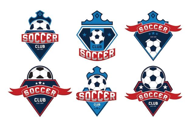 Coleção de logotipo de futebol