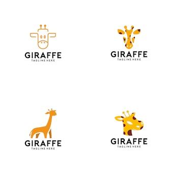 Coleção de logotipo de girafa
