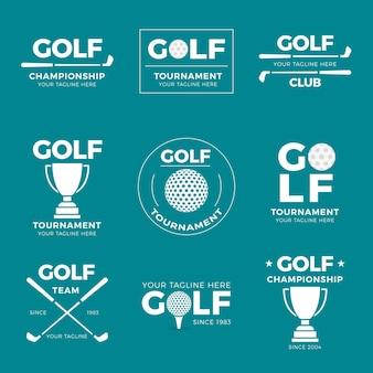 Coleção de logotipo de golfe