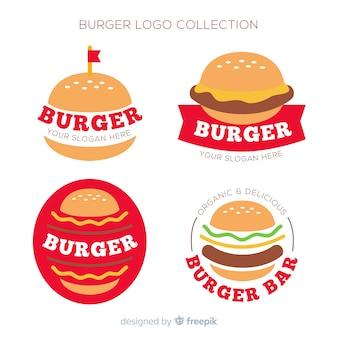 Coleção de logotipo de hambúrguer