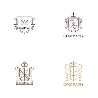 Coleção de logotipo de heráldica