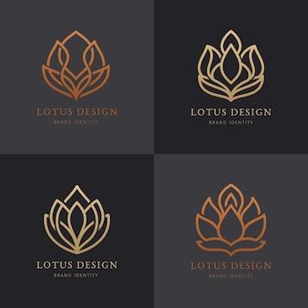 Coleção de logotipo de identidade de marca de luxo.