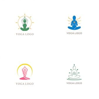 Coleção de logotipo de ioga