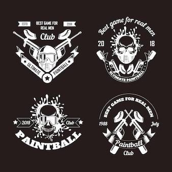 Coleção de logotipo de jogo de paintball