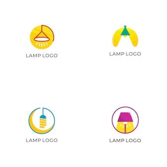 Coleção de logotipo de lâmpada