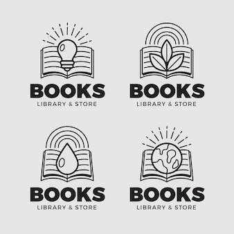 Coleção de logotipo de livro