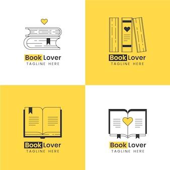 Coleção de logotipo de livro Vetor grátis