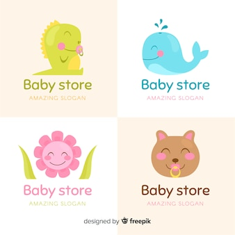 Coleção de logotipo de loja de bebê