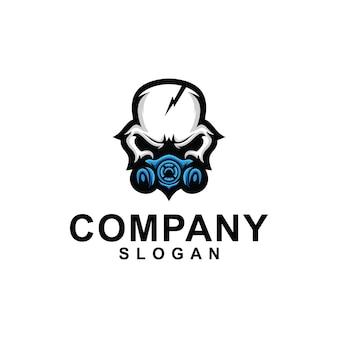 Coleção de logotipo de máscara de caveira