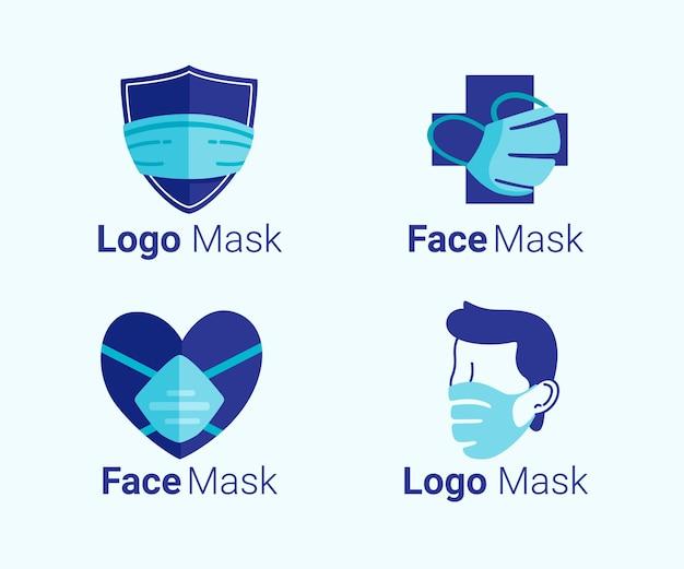 Coleção de logotipo de máscara facial