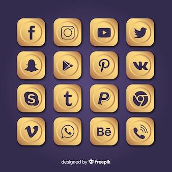 Coleção de logotipo de mídia social