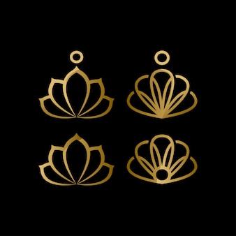 Coleção de logotipo de molusco de luxo