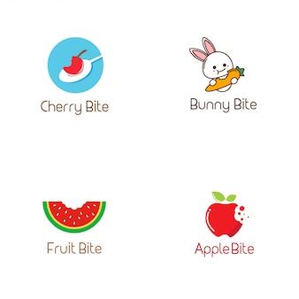 Coleção de logotipo de mordida