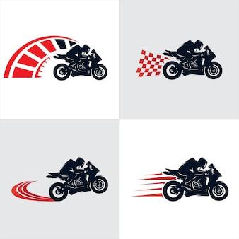 Coleção de logotipo de motocicleta