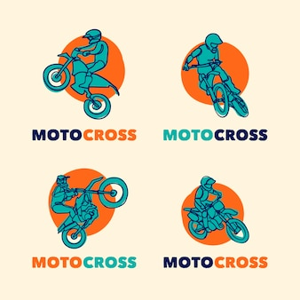 Coleção de logotipo de motocross