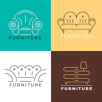 Coleção de logotipo de móveis