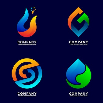 Coleção de logotipo de negócios abstratos