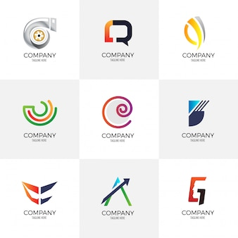 Coleção de logotipo de negócios criativos