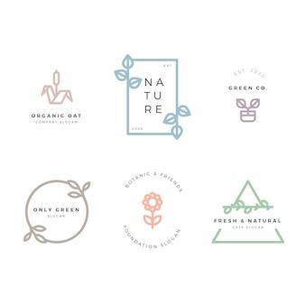 Coleção de logotipo de negócios de estilo minimalista