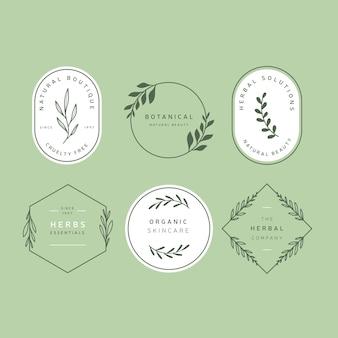 Coleção de logotipo de negócios naturais