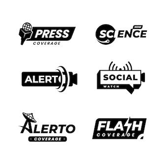 Coleção de logotipo de notícias mínimas