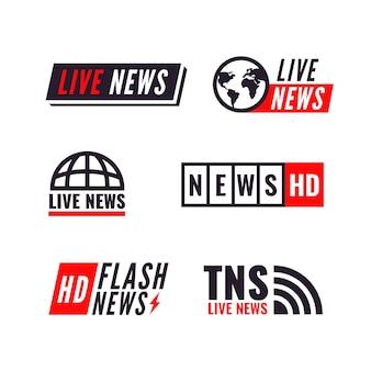 Coleção de logotipo de notícias