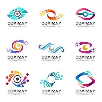 Coleção de logotipo de olho criativo