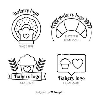 Coleção de logotipo de padaria