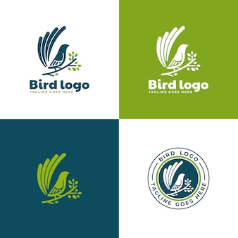 Coleção de logotipo de pássaro