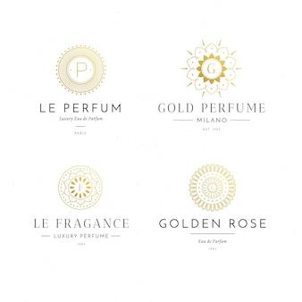 Coleção de logotipo de perfume de luxo