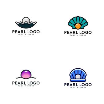 Coleção de logotipo de pérola
