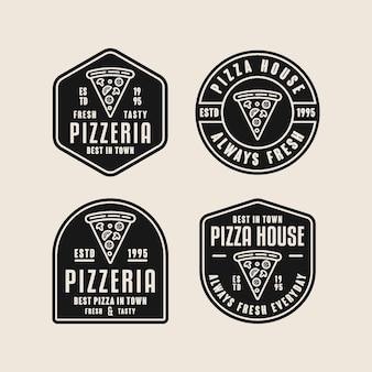 Coleção de logotipo de pizza fresca e saborosa