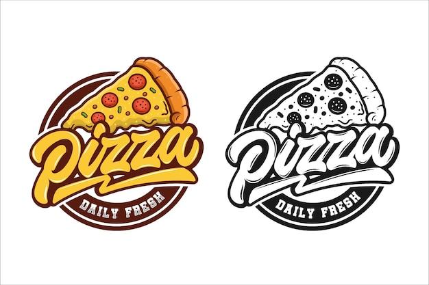 Coleção de logotipo de pizzaria