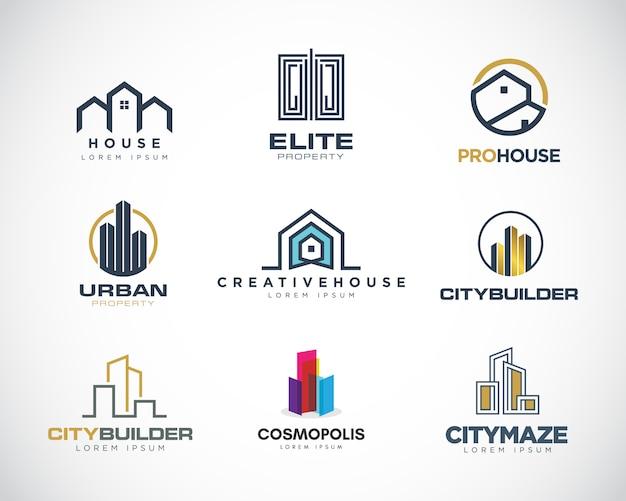 Coleção de logotipo de propriedade