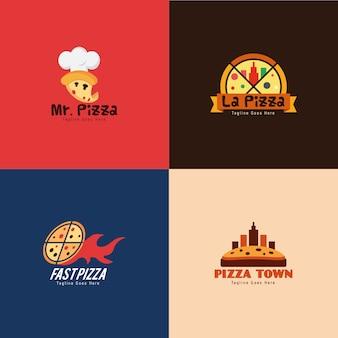 Coleção de logotipo de restaurante de pizza
