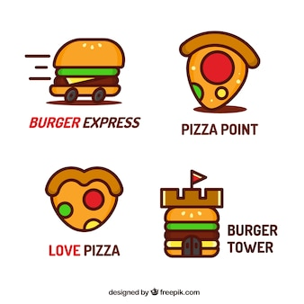 Coleção de logotipo de restaurante fast food