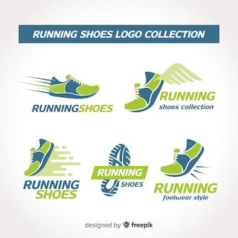 Coleção de logotipo de sapato de corrida