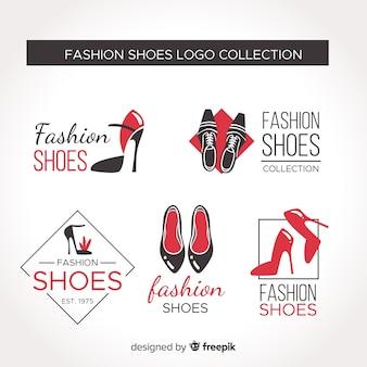 Coleção de logotipo de sapato de moda