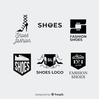 Coleção de logotipo de sapato moderno