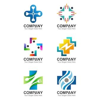 Coleção de logotipo de saúde