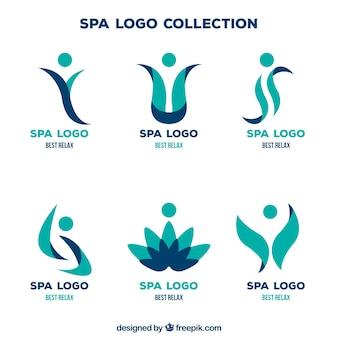 Coleção de logotipo de spa
