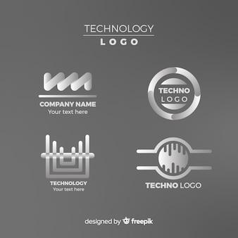 Coleção de logotipo de tecnologia