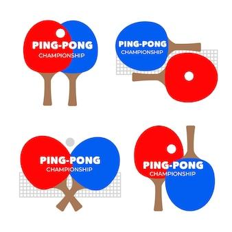 Coleção de logotipo de tênis de mesa