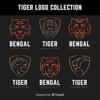 Coleção de logotipo de tigre