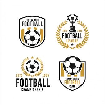Coleção de logotipo de torneio de clube de futebol