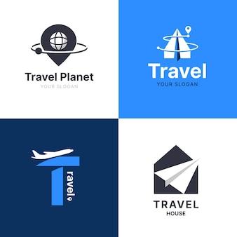 Coleção de logotipo de viagens