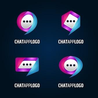 Coleção de logotipo do aplicativo de bate-papo