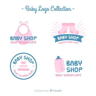 Coleção de logotipo do bebê
