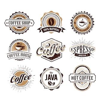 Coleção de logotipo do café